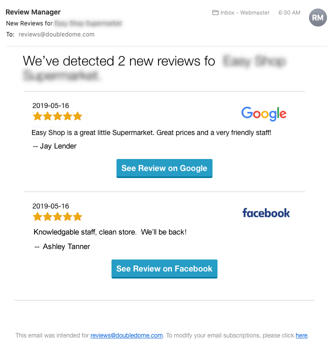 customer review software